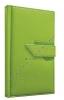 Notes Agama zelená s pútkom - linajkový vreckový